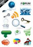сеть иконы установленная Стоковые Фотографии RF