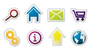 сеть иконы установленная Стоковые Изображения