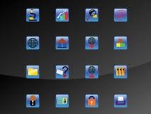сеть иконы установленная Стоковое Фото
