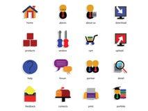 сеть иконы установленная Стоковая Фотография RF