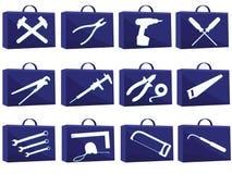 сеть иконы установленная Стоковое фото RF