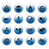 сеть иконы установленная Стоковые Изображения RF