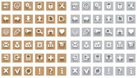 сеть иконы установленная Стоковые Фото