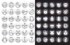 сеть иконы установленная Стоковая Фотография