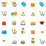 сеть иконы электронной коммерции Стоковое Изображение