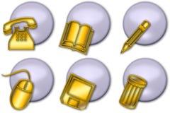 сеть иконы 01 кнопки иллюстрация штока