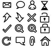 сеть иконы иллюстрация вектора