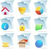 сеть икон документа 3d иллюстрация вектора