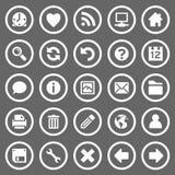 сеть икон круглая просто Стоковые Фотографии RF