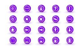сеть икон лоска конструкции magenta глянцеватая Стоковая Фотография