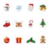 сеть икон рождества Стоковые Изображения RF