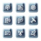 сеть икон связи Стоковое Фото