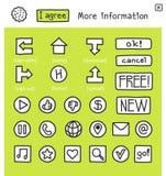сеть 100 икон собрания Стоковые Изображения RF