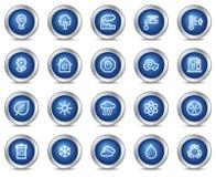 сеть икон экологичности Стоковое Изображение RF