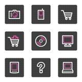 сеть икон электроники Стоковые Изображения