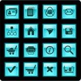 сеть икон стоковое изображение rf