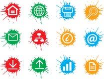 сеть икон стоковые фотографии rf