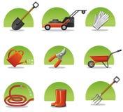 сеть инструментов икон сада Стоковые Фотографии RF
