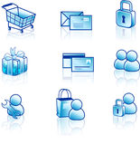 сеть интернета иконы установленная Стоковое фото RF