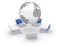 сеть интернета иконы 3d Стоковое Изображение