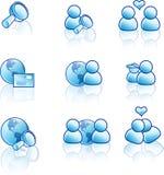 сеть интернета иконы Стоковые Изображения RF