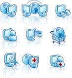 сеть интернета иконы Стоковое Изображение