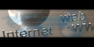 сеть интернета предпосылки Стоковое Изображение