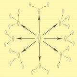Сеть интернета Стоковая Фотография RF