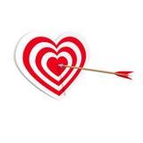 Сеть искусства значка сердца цели Концепция Amorousness иллюстрация вектора