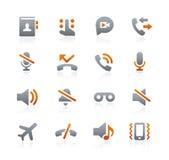 Сеть и передвижные значки 1 -- Серия графита бесплатная иллюстрация