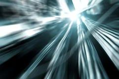 Сеть и силовые кабели, абстрактный поток информации в интернете Стоковая Фотография RF