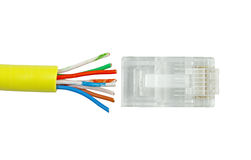 сеть кабеля category5 Стоковое фото RF