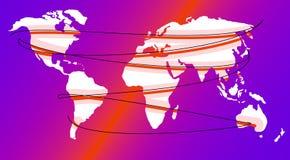 Сеть карты или глобуса всемирная стоковая фотография