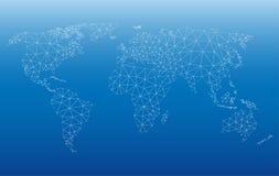 Сеть карты мира Стоковые Изображения RF