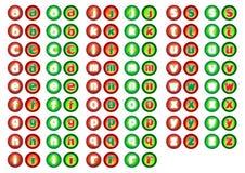 сеть кнопки алфавита Стоковое фото RF