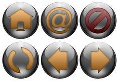 сеть кнопки установленная Стоковое Фото