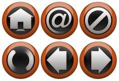 сеть кнопки установленная Стоковое Изображение RF