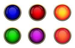 сеть кнопки Стоковые Изображения