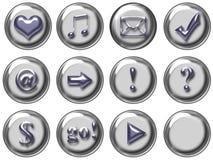 сеть кнопки Стоковое Изображение