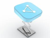 сеть кнопки Стоковые Изображения RF