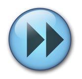 сеть кнопки aqua Стоковое фото RF