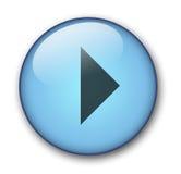 сеть кнопки aqua Стоковая Фотография