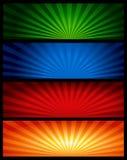 сеть коллектора знамени иллюстрация вектора