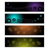 сеть коллекторов знамен Стоковые Изображения RF