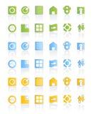 сеть комплекта иконы самомоднейшая иллюстрация штока