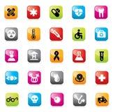 сеть комплекта икон конструкции медицинская Стоковая Фотография RF