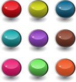 сеть комплекта кнопок круглая иллюстрация штока