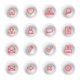 сеть красного цвета икон Стоковая Фотография RF