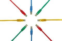 сеть круга кабеля Стоковые Фото