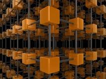 сеть кубика Стоковое фото RF